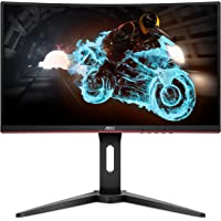 "AOC C24G1A 24"" Curved Frameless Gaming Monitor, FHD 1920x1080, 1500R, VA, 1ms MPRT, 165Hz (144Hz supported), FreeSync…"