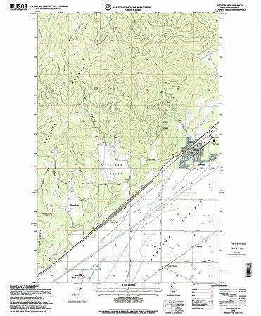 Amazon Com Yellowmaps Rathdrum Id Topo Map 1 24000 Scale 7 5 X
