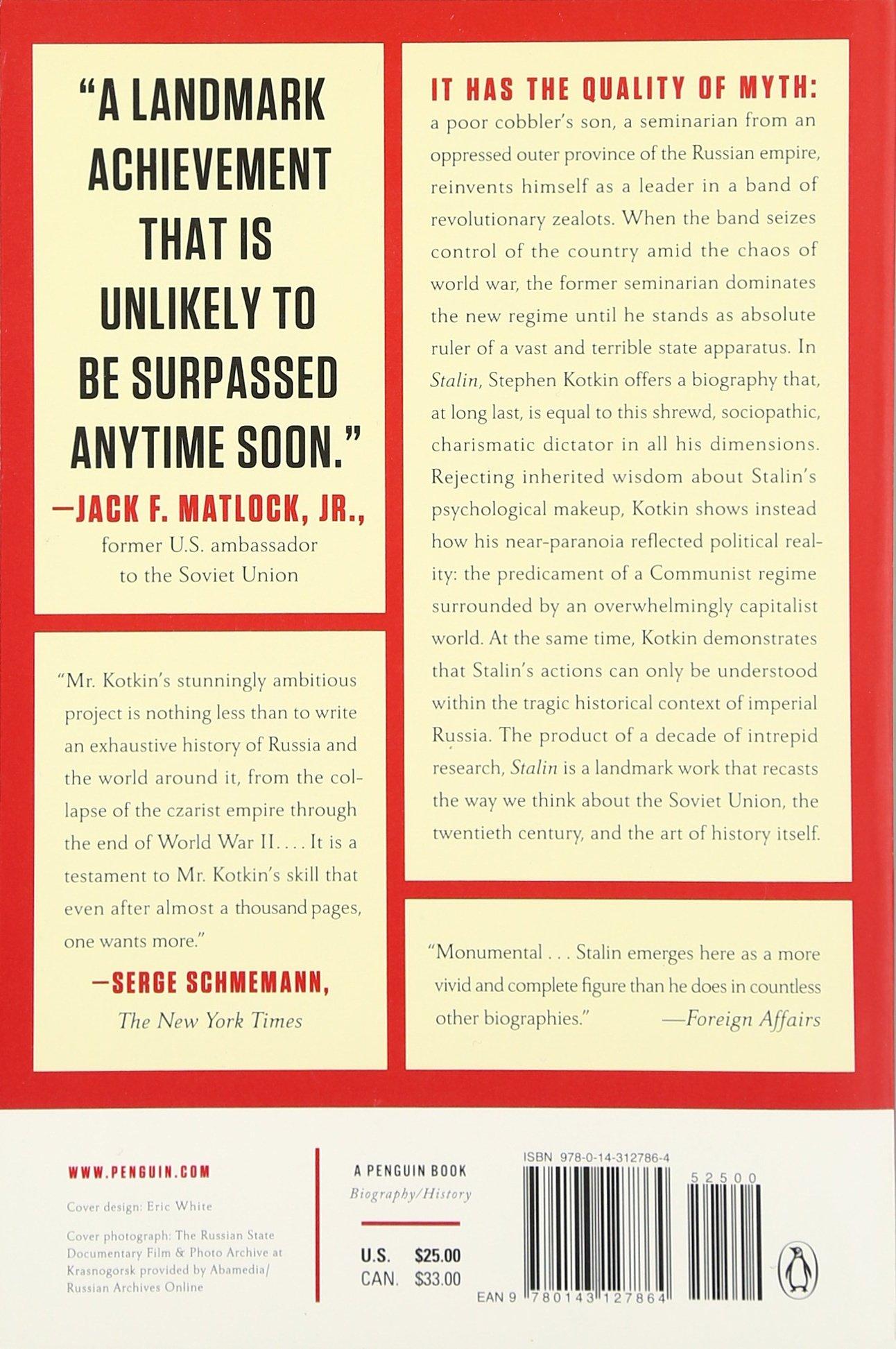 Amazon: Stalin: Paradoxes Of Power, 18781928 (9780143127864): Stephen  Kotkin: Books