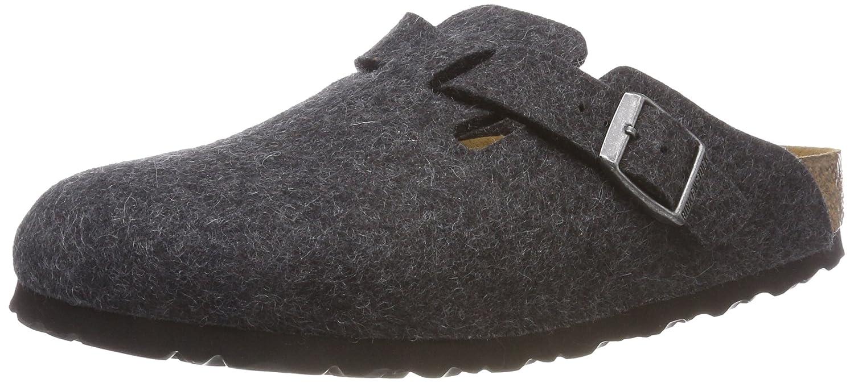 Birkenstock Unisex Boston Fe S Anthracite 36 S|Gris (Anthrazite Wool)