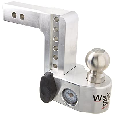 "Weigh Safe WS6-2, 6"" Drop Hitch w/ 2"" Shank/Shaft, Adjustable Aluminum Trailer Hitch & Ball Mount w/ Built-in Scale, 2 Stainless Steel Balls (2"" & 2-5/16"") and a Double-pin Key Lock: Automotive"