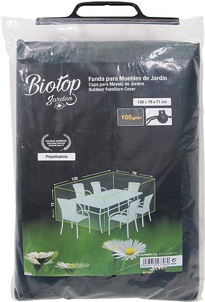 Biotop B2234 Funda para mesas y sillas de 130 x 79 cm, Verde, 130x79x71 cm: Amazon.es: Jardín