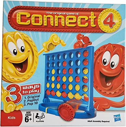 WINNING MOVES AGE 6+ HASBRO PAC-MAN CONNECT 4 GAME CLASSIC 4-IN-A-ROW GAME