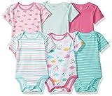 Amazon Essentials Girls' Baby 6-Pack Short-Sleeve