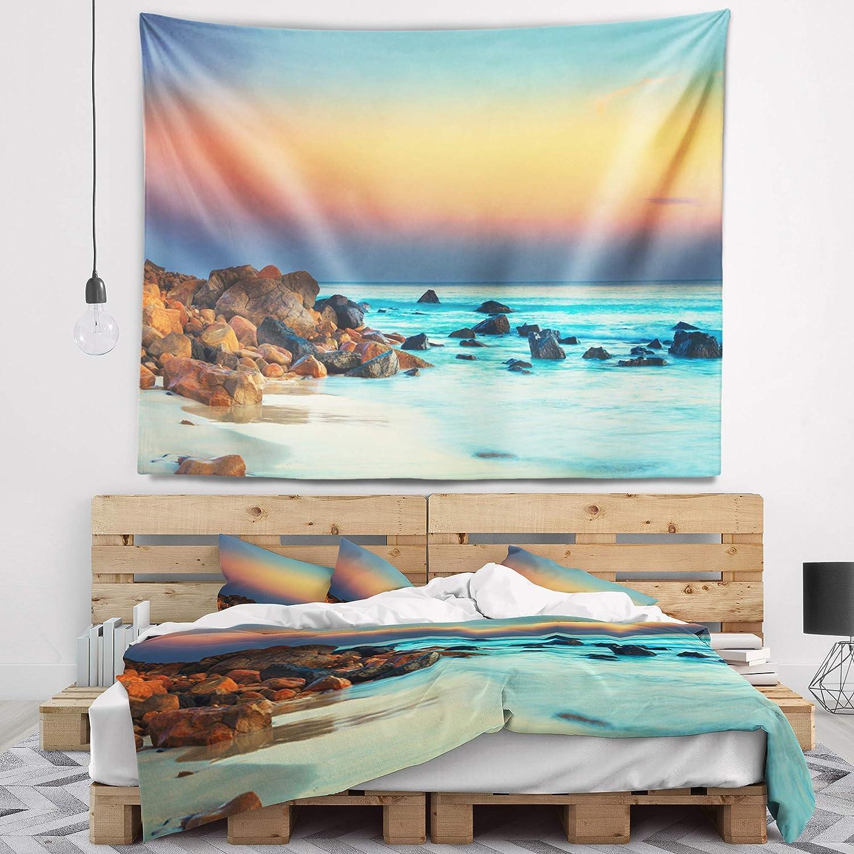 Designart TAP6816-39-32 Sunset Over Blue Sky Wall Tapestry Medium//39 x 32