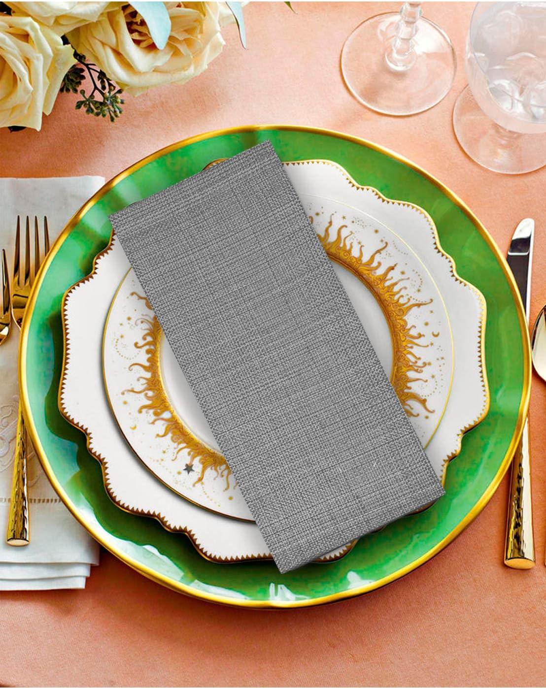 Clinique du coton Lot de 12 Serviettes de Table Coton Surdimensionn/ées 50 x 50 cm Serviettes de Table Tissu Serviettes de Table Mariage Bleu