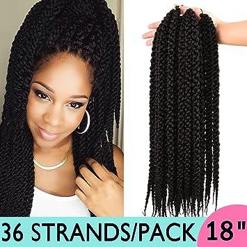 Amazoncom Silike 3d Cubic Twist Crochet Hair 18 3 Pieces 4s