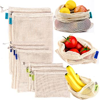 reusable produce mesh bags g ting natural cotton eco friendly net bags with double. Black Bedroom Furniture Sets. Home Design Ideas