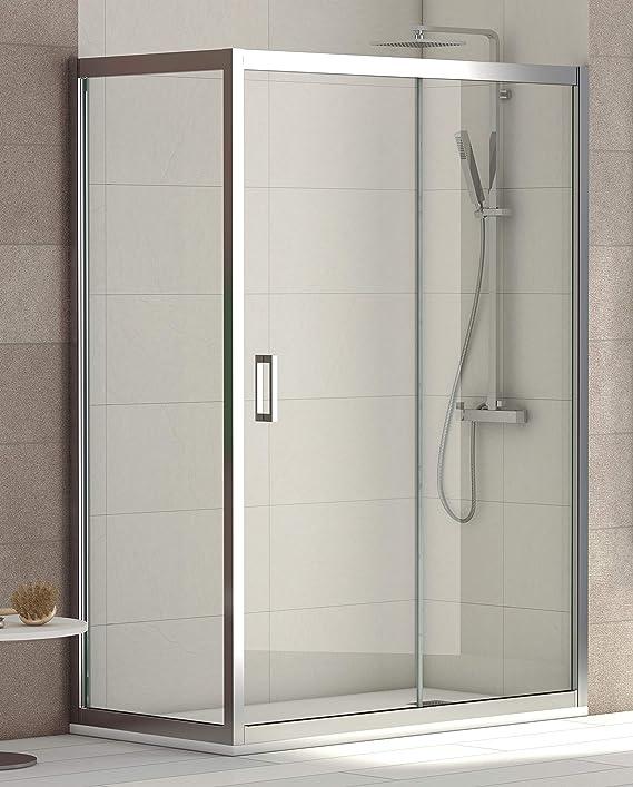 ALABAMA Mampara Angular de ducha, Easy Clean, Fijo de 80 cm de ...