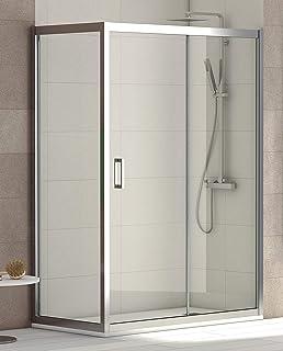 Cabina de ducha rectangular 80 x 120 x 185 cm, transparente, 6 mm ...