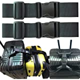 2pcs Two Add a Bag Luggage Set Strap Travel Luggage Suitcase Adjustable belt Travel Accessories Travel Attachment - Connect y