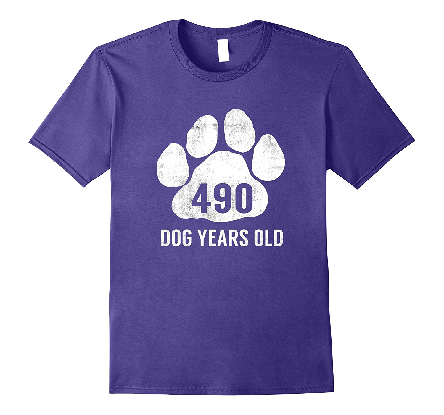 490 Dog Years Old T-Shirt Funny 70th Retired Birthday Gift-TH