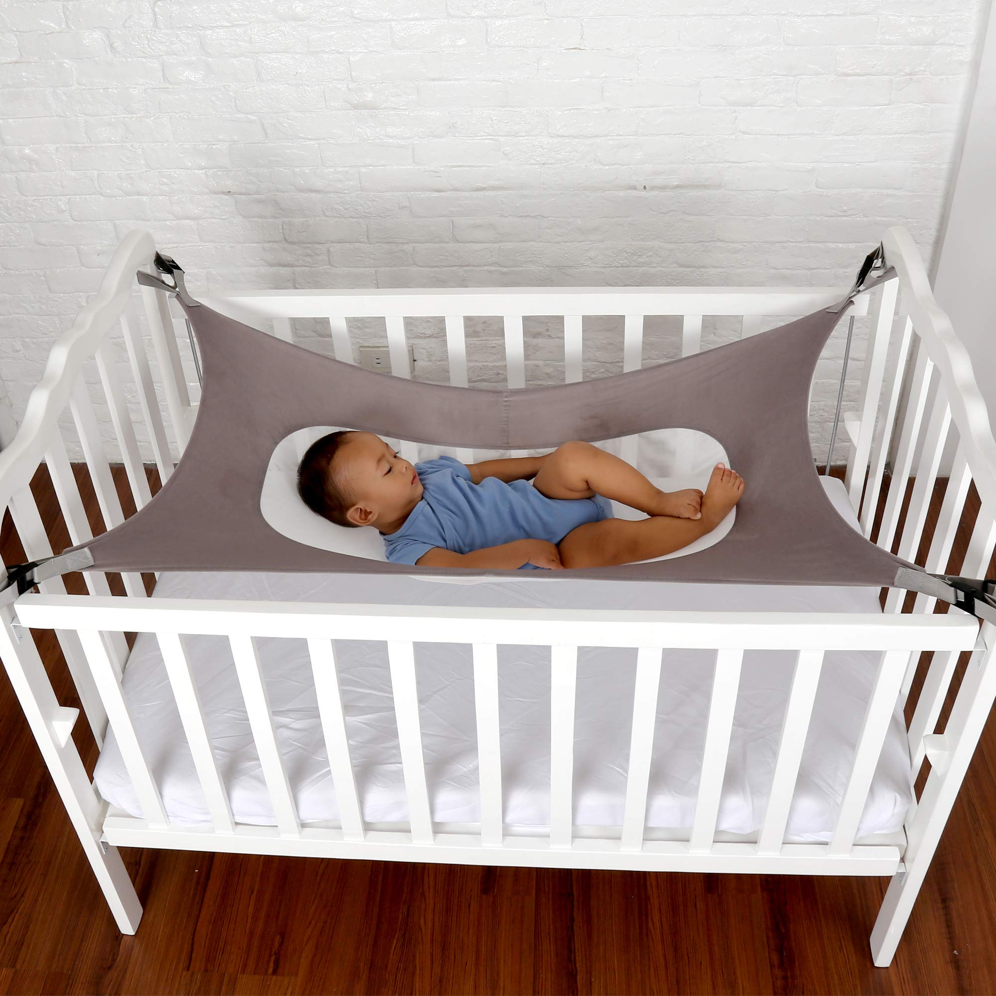 Baby Crib Hammock by Easy Gorilla - Newborn Bed Sleeping Essentials for Boys and Girls - Breathable and Portable - Infant Sleep Comfort Gifts for Indoor Cot - Cradle - Safety Mesh Nursery Nap Hammocks by EasyGorilla (Image #5)