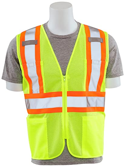Extra Large ERB Safety Lime ERB 63168 S381 Aware Wear Class 2 Vest with D-Ring
