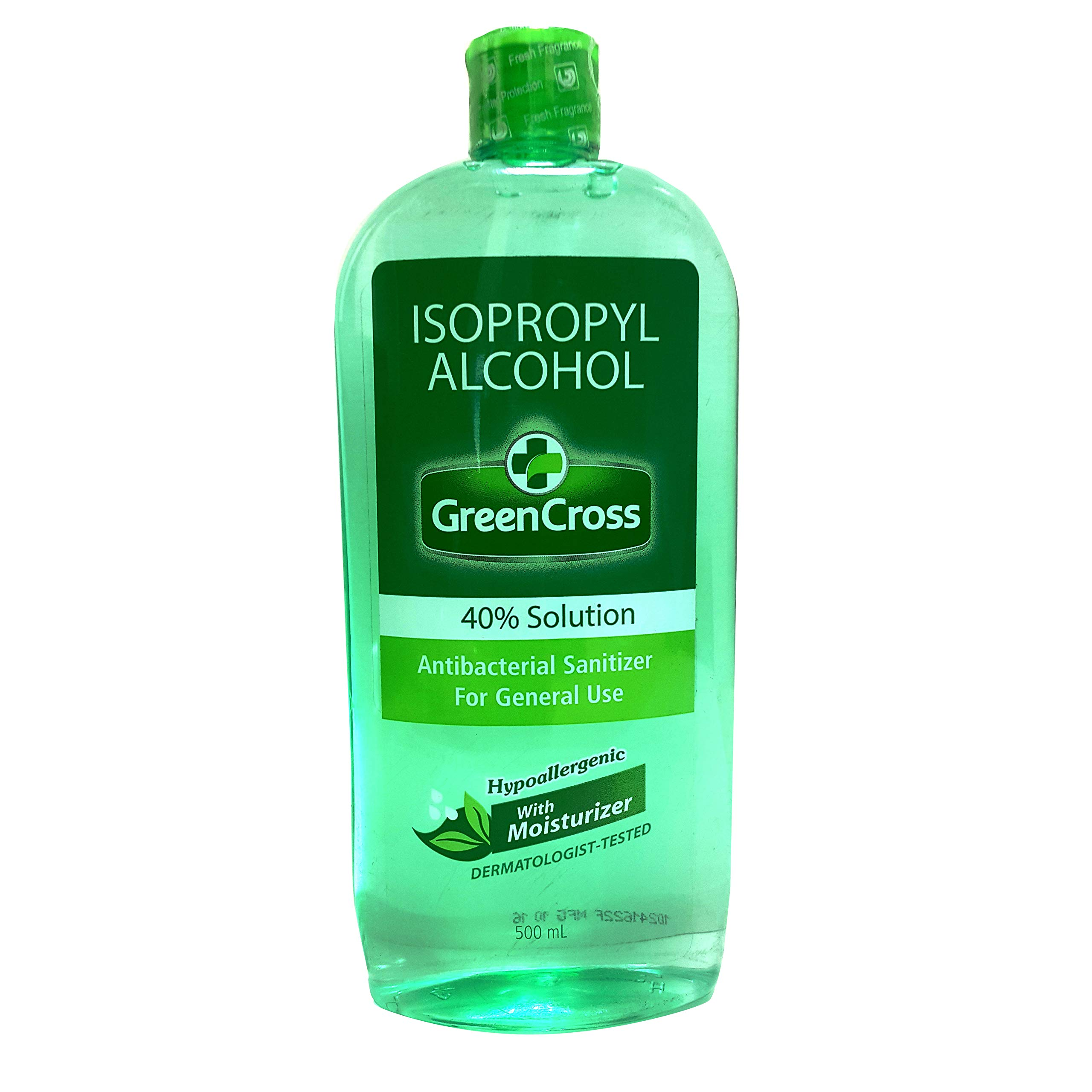 Green Cross Isopropyl Alcohol 40% Solution With Moisturizer, 500ml