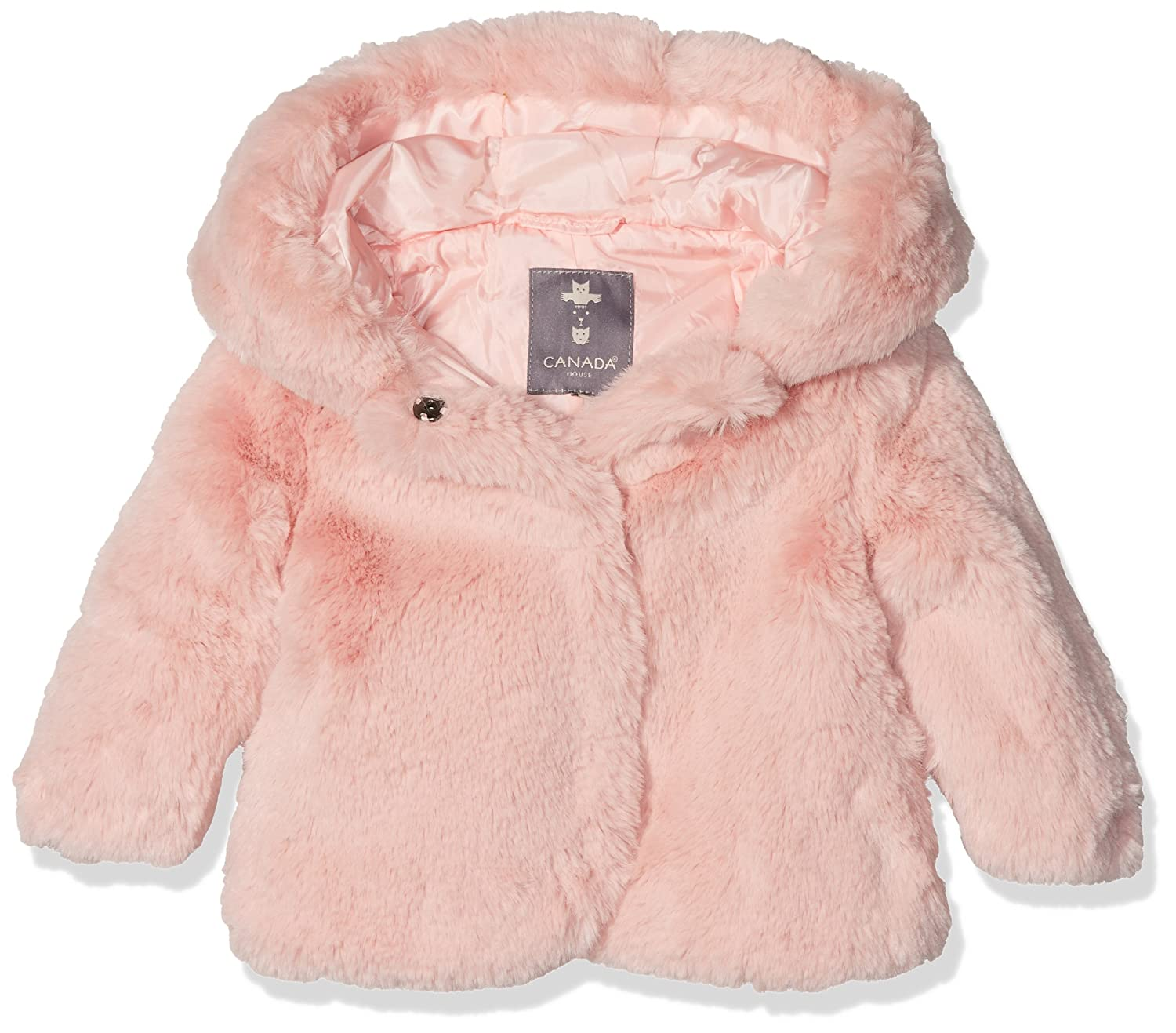 Canada House BB Plush - Abrigo para niñas, Color Rosa, Talla ...