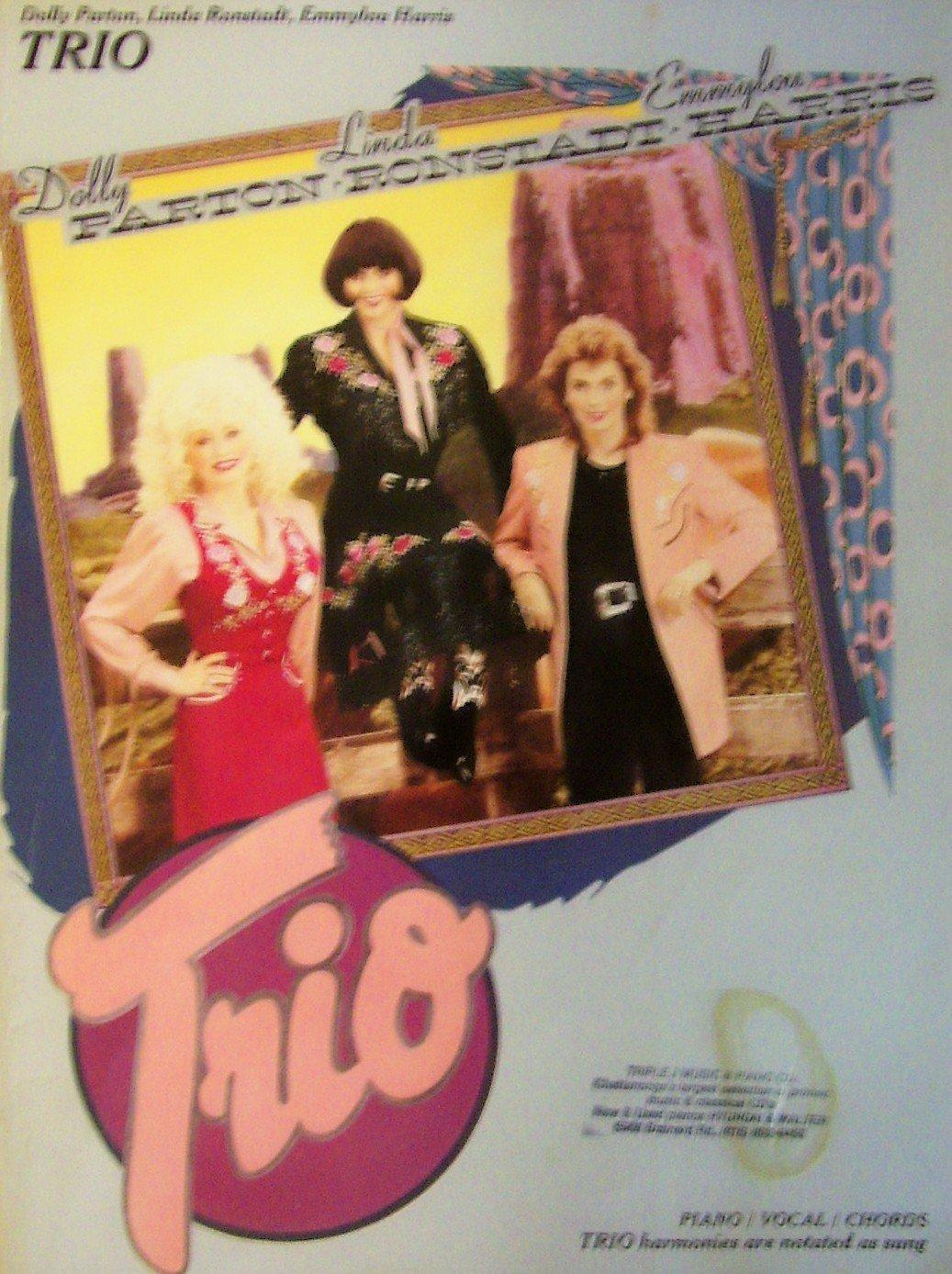 Dolly Parton Linda Ronstadt Emmylou Harris Trio Songbook Piano