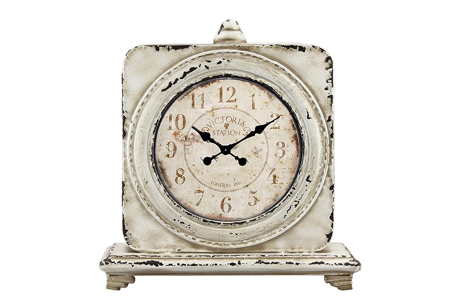 Stonebriar Victoria Station Table top clock Off white