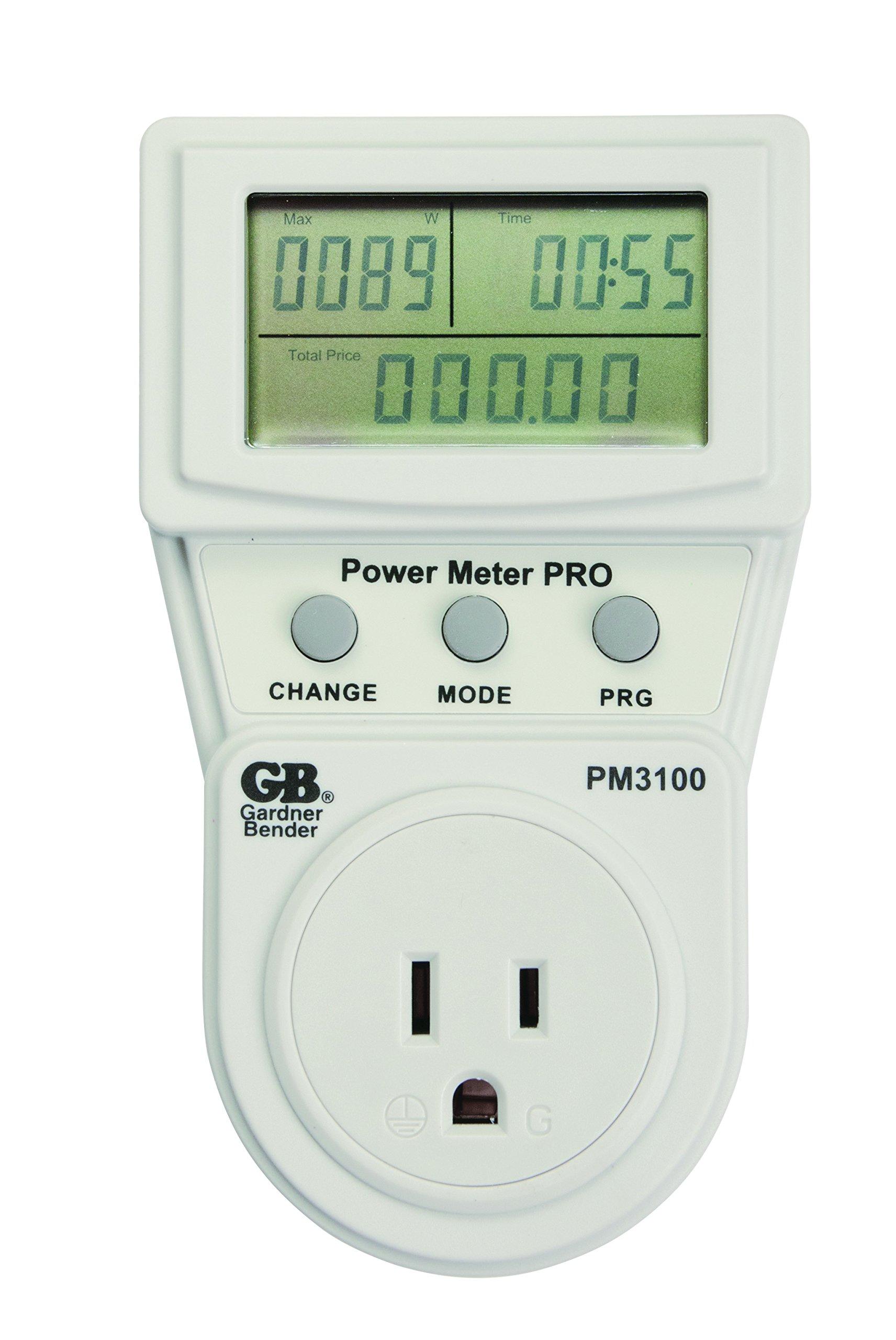 Gardner Bender PM3100 Pro Energy Usage Power Meter, Grey
