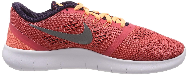 Eficacia Labor blanco  Youth Size 6 Nike Kids Free RN GS Metallic Silver Ember Glow Footwear  Running