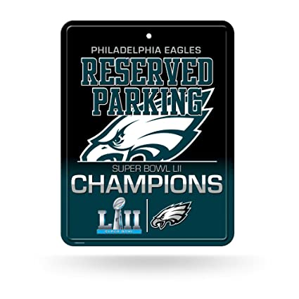 3ce376050a1 Amazon.com   NFL Philadelphia Eagles 8-Inch by 11-Inch Metal Parking ...
