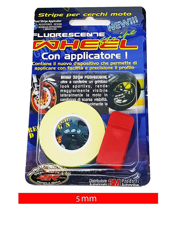 Giallo 5 mm x 6 mt Quattroerre 10240 Wheel Strisce