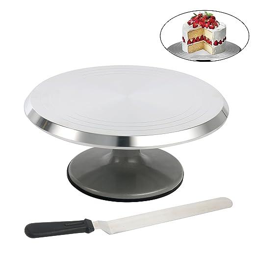 yaetek soporte para tartas y bono glaseado Espátula ...