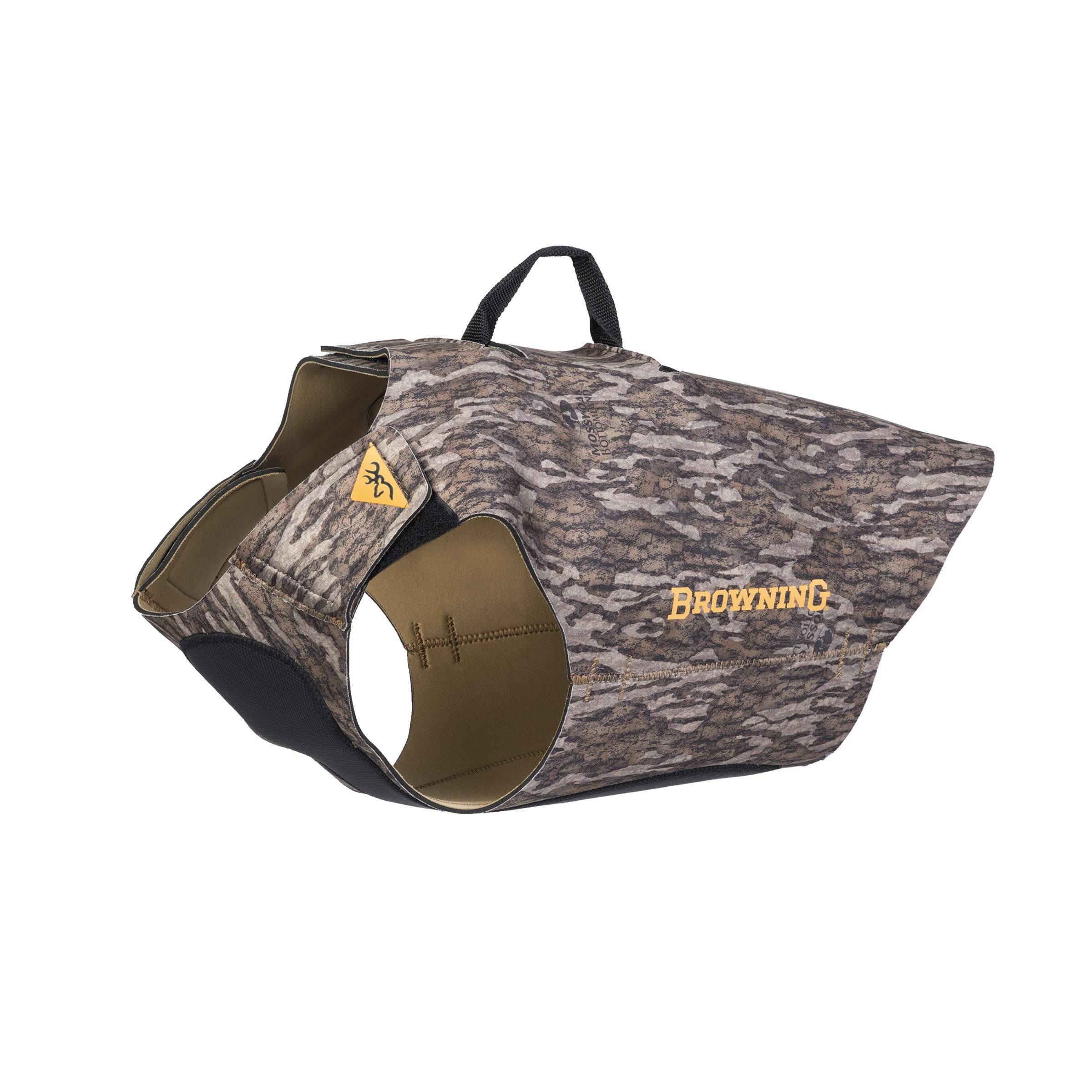 Browning Camo 3mm Neoprene Dog Vest | Mossy Oak Bottomland | Size X-Large