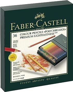 Faber-Castell 110038 36er Atelierbox 36er Atelierbox   POLYCHROMOS, Aktionspack mit Block Farbstift POLYCHROMOS