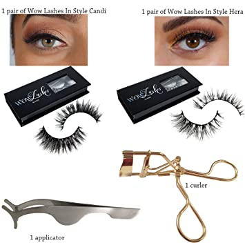 15f79caaca6 2 Pairs Long Wispy Lashes Thick Dramatic Real 3D False Mink Eyelashes  Reusable Cruelty Free 2