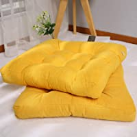 2 Pcs Square Cushions Meditation Pillow for Seating on Floor Thick Tufted Patio Seat Cushion for Yoga Sofa Balcony…