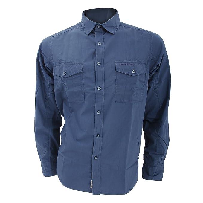 Craghoppers - Camisa de manga larga Diseño Casual Modelo Kiwi para hombre caballero - Trabajo/