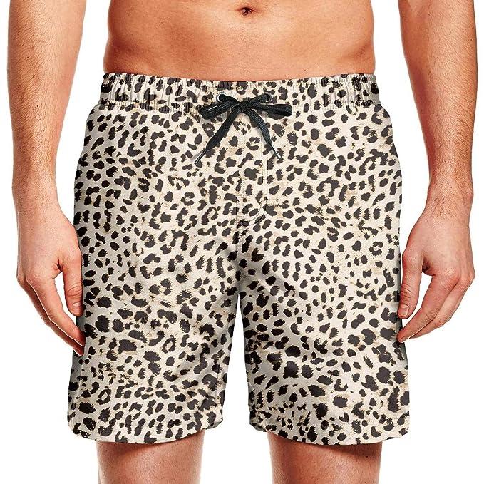 Amazon.com: XULANG - Bañador para hombre, diseño de leopardo ...