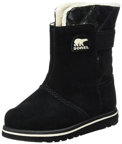 7b37b6b3b77a SOREL Unisex Kids Youth Rylee Camo Waterproof Rain Snow Ankle Winter Boot -  Black Light