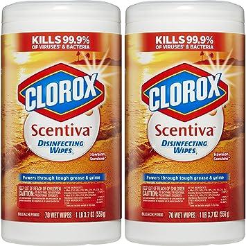 amazon com clorox scentiva disinfecting wipes value pack hawaiian