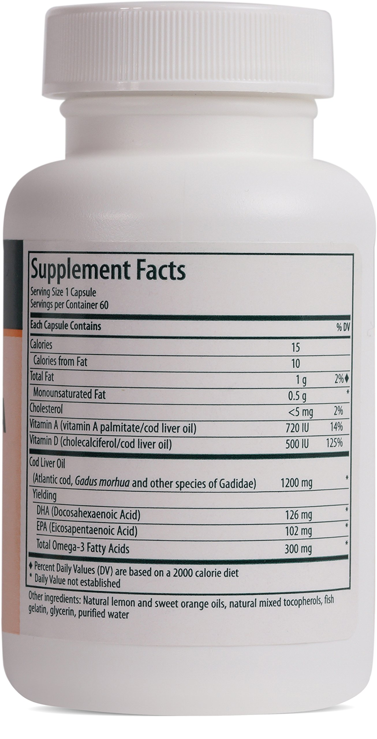 Genestra Brands - Cod Liver Oil DHA/EPA Forte Capsules - Blend of DHA, EPA, and Vitamins A and D - 60 Softgel Capsules by Genestra Brands (Image #2)