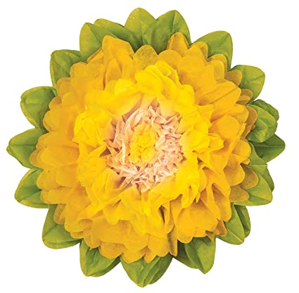 Amazon luna bazaar giant tissue paper flower 24 inch yellow luna bazaar giant tissue paper flower 24 inch yellow marigold yellow mightylinksfo