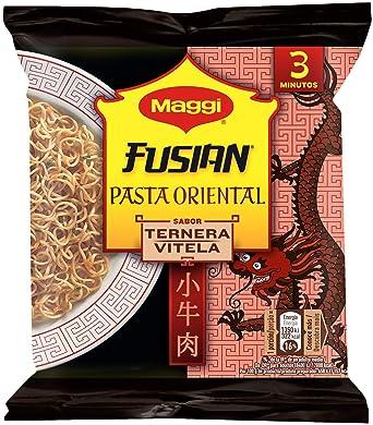 MAGGI Fusian Pasta Oriental Noodles Sabor Ternera - Fideos Orientales - Bolsa 71g (1 ración