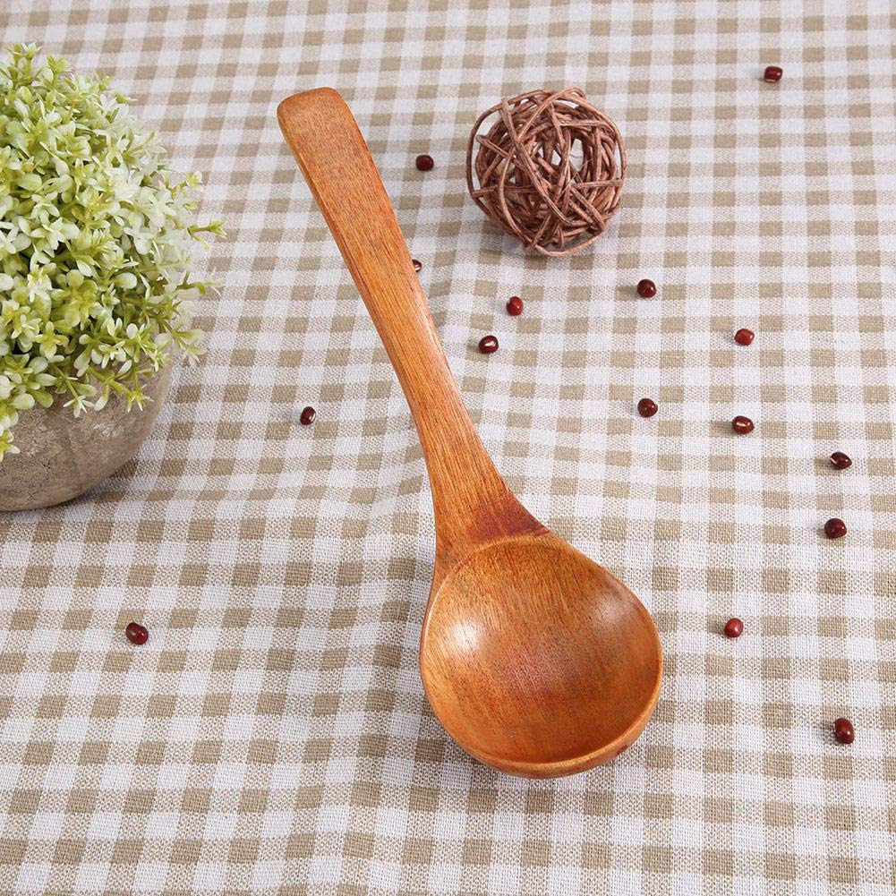 Louche en Bois Naturelle /à Long Manche Cuill/ère /à La Maison de Cuisine Vaisselle Outil de Cuisine Ustensiles # 03 Couleur de bois originale