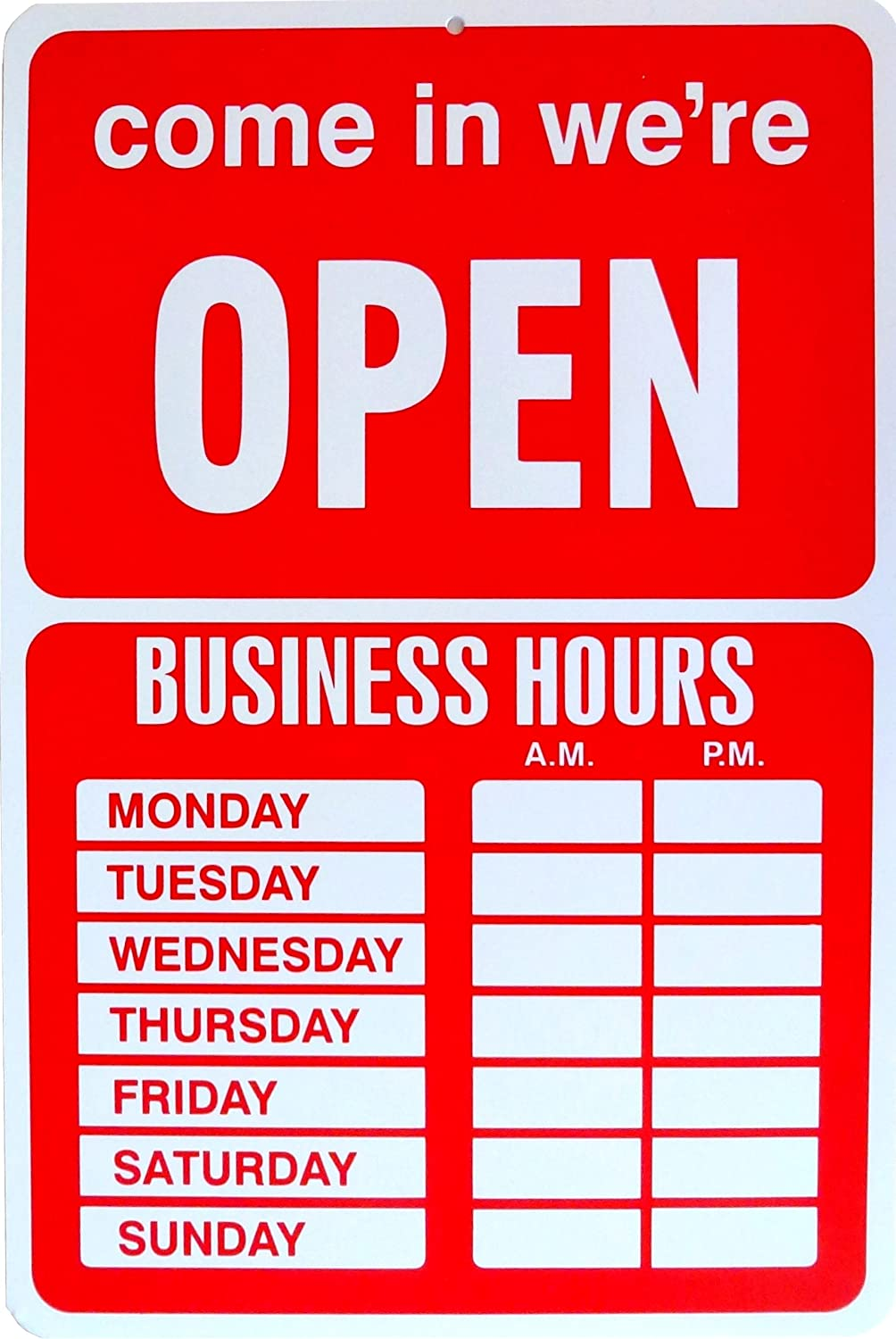 Amazon.com : Open Closed Sign Business Hours Notice : Business And ...