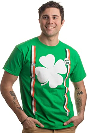 Rainbow Suspenders Irish Green Youth T-Shirt St Patricks Day