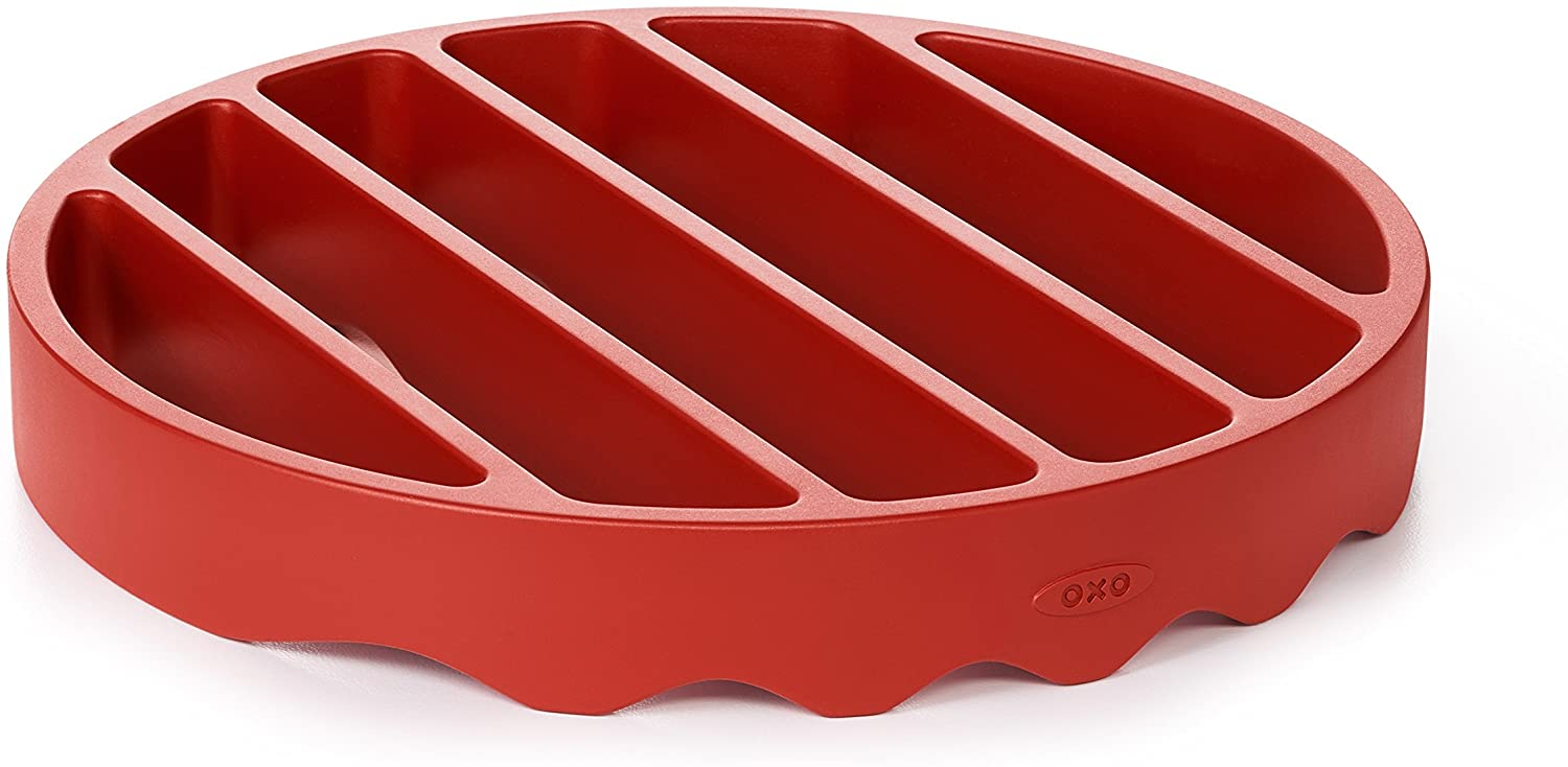 OXO Good Grips Silicone Pressure Cooker Roasting Rack,Red,Silicone Pressure Cooker Rack