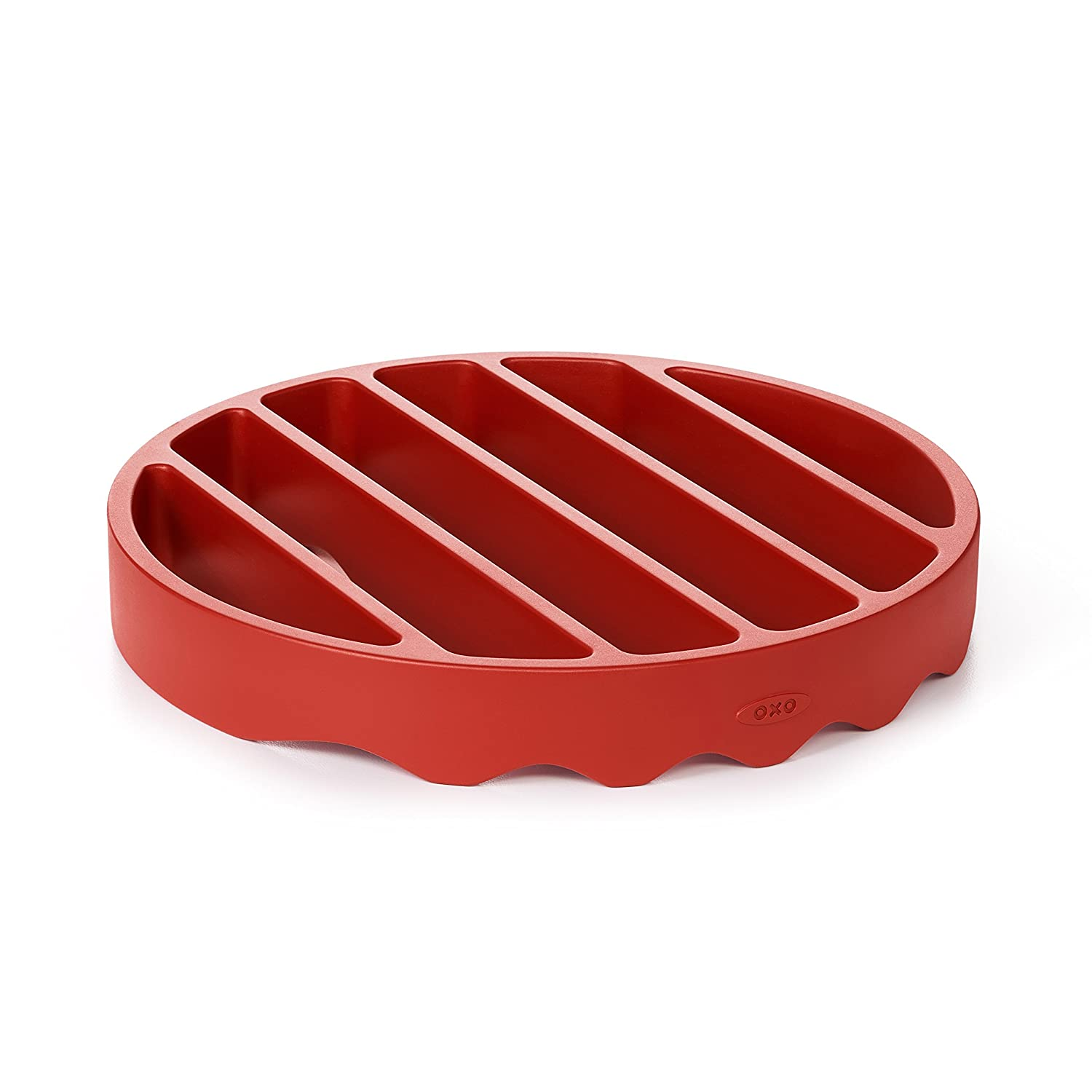 OXO 11237200 Good Grips Pressure Cooker Rack Silicone, Red