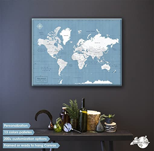 World travel map pin board push pin map canvas personalized world travel map pin board push pin map canvas personalized couples travel map gumiabroncs Image collections