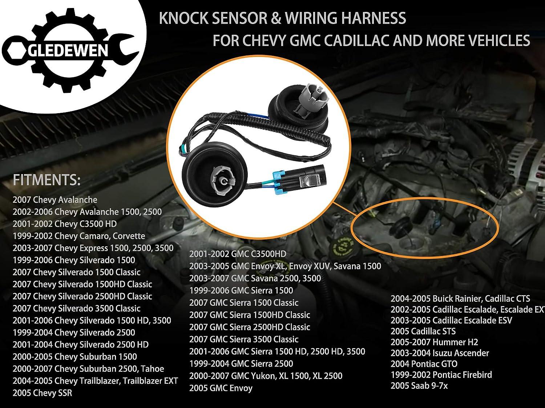 2004 Buick Rainer 2 x New Knock Sensor For 2002-2006 Chevrolet Avalanche 1500
