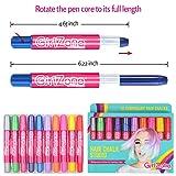 GirlZone: Hair Chalk Set For Girls, 10 Piece