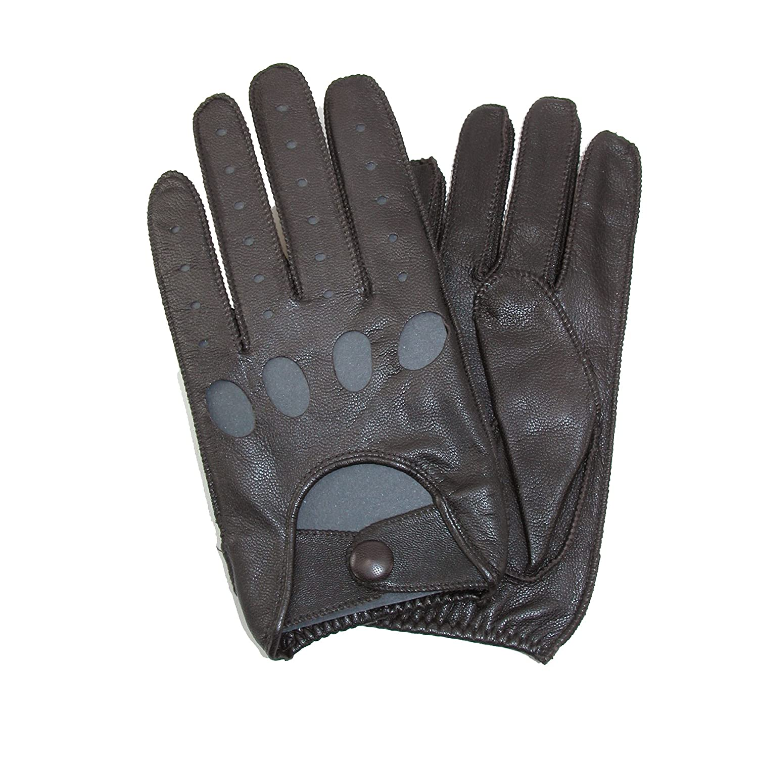 Leather driving gloves macys - Isotoner Men S Smooth Leather Driving Glove With Covered Snap Black Medium At Amazon Men S Clothing Store Cold Weather Gloves