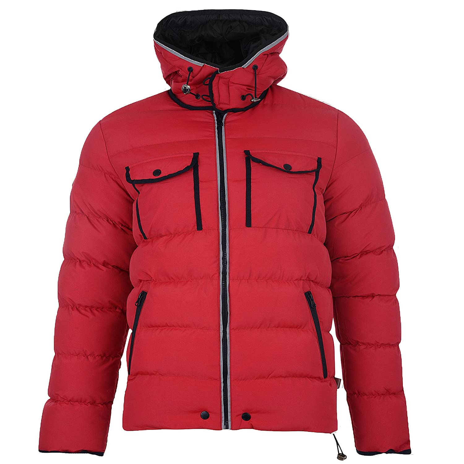 Mens Jacket Bellfield New Hooded Casual Fashion Padded Puffer Warm Winter Coat