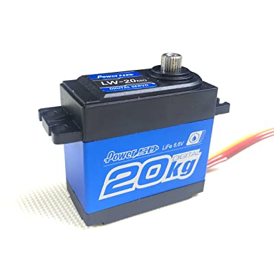 Power HD LW-20MG Waterproof High Torque Metal Gear Standard Digital Servo 20KG/0.16S 6V for 1/8 1/10 Scale RC Cars: Toys & Games