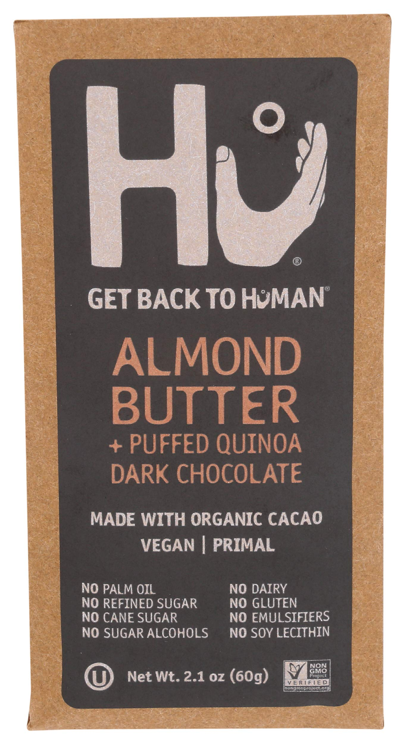 HU KITCHEN Almond Butter & Puffed Quinoa Chocolate Bar, 2.1 OZ